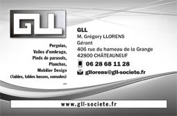 Carte de visite GLL - Les idées de Sandrine