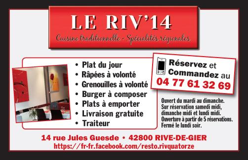 Carte de visite restaurant Riv14 - Les idées de Sandrine