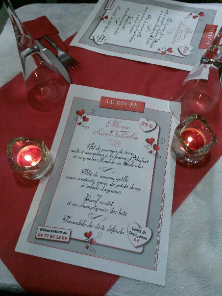 Photo menu Saint Valentin Riv14 - ©Les idées de Sandrine