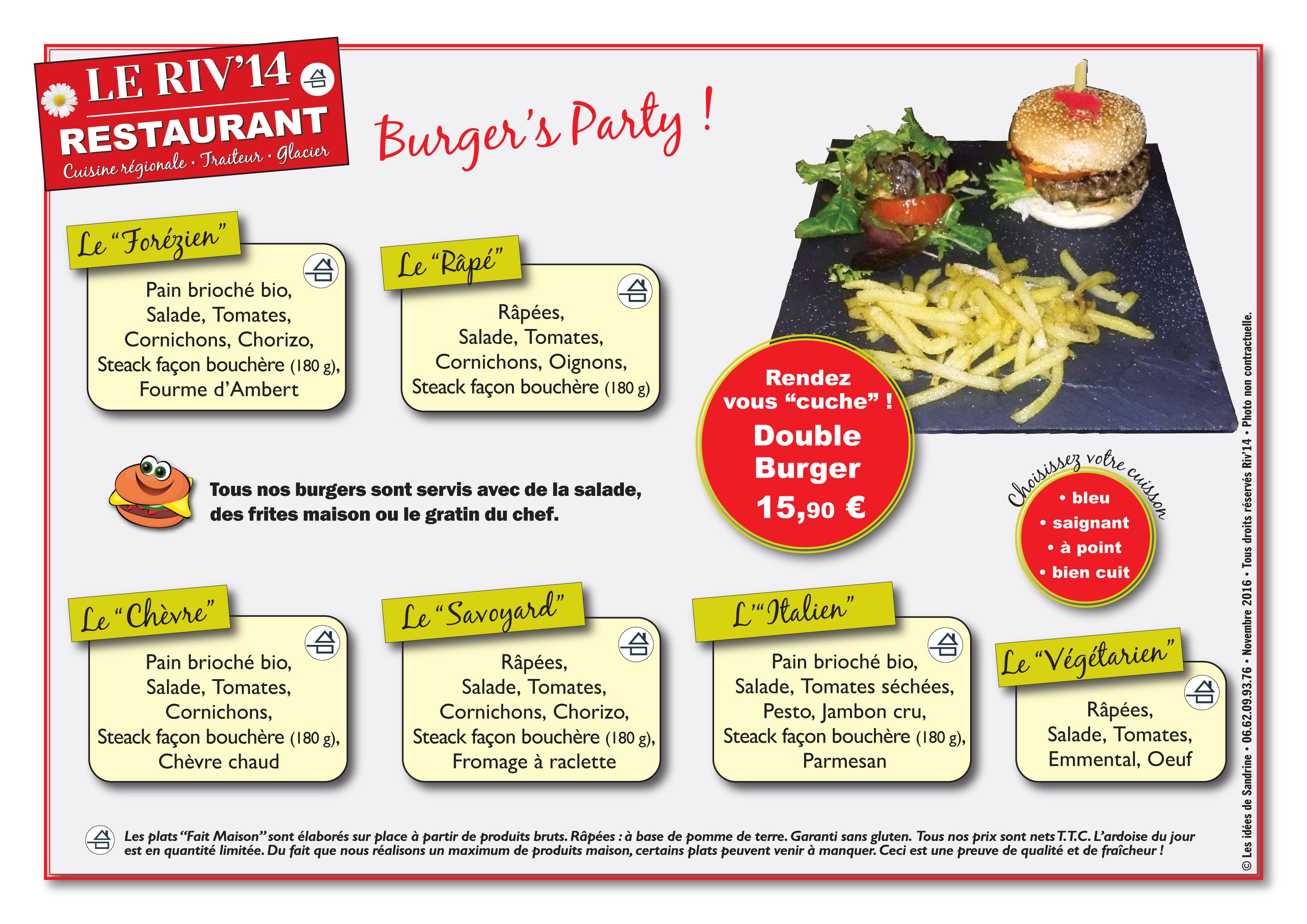 Publicité Burger double Riv14 - ©Les idées de Sandrine